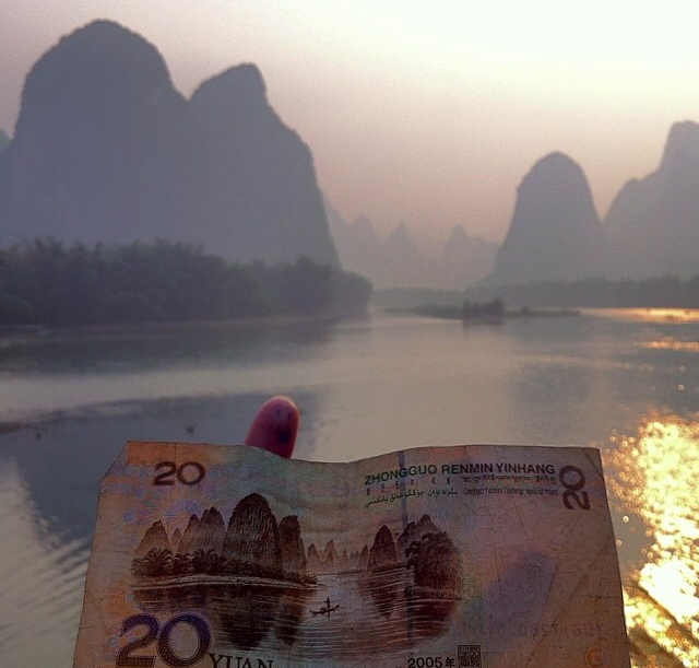 This picture is taken by a friend of mine who has also helped me with some tips for our forthcoming trip to Guilin and Yangshuo. Yup - that beautiful scenery on the 20 Kuai note should be possible to find on the Li River. I'm so excited!