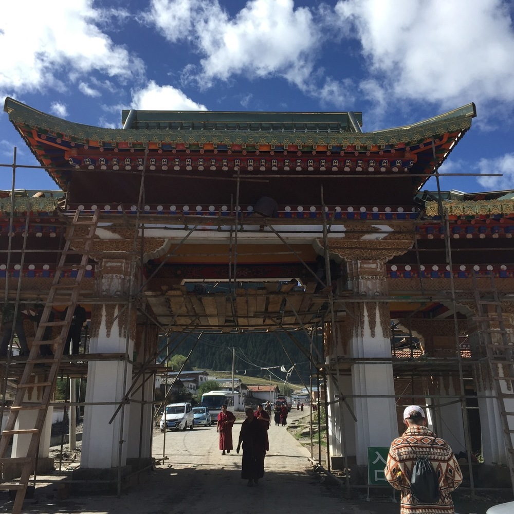 Entrance to Kirti Gompa Monastery