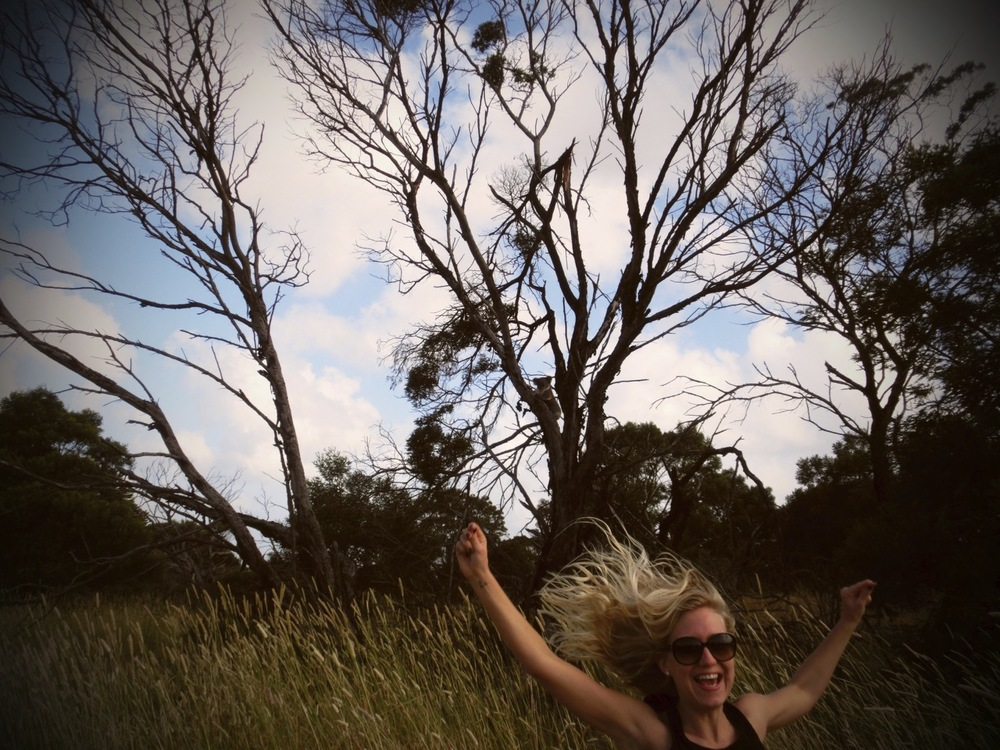 Spot the happy girl who after several days on the road looking out for koalas finally found one (oh and spot him as well)