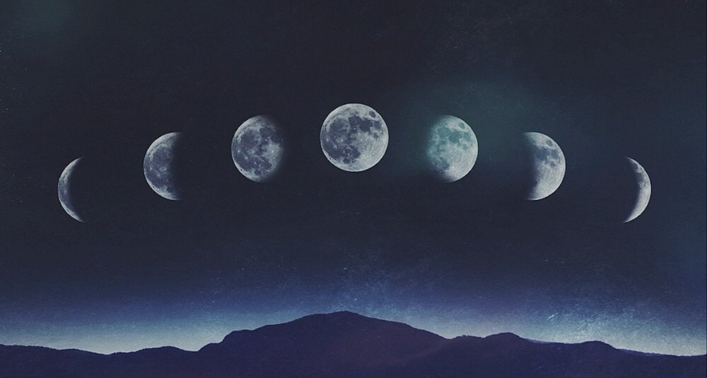 The moon has 4 main phases (New, First Q, Full and Third Q) and many in between