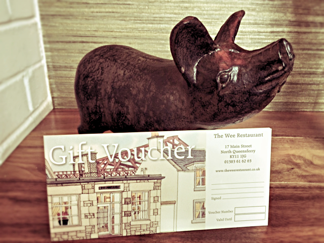 This little piggy went to market and bought a Wee Restaurant gift voucher!