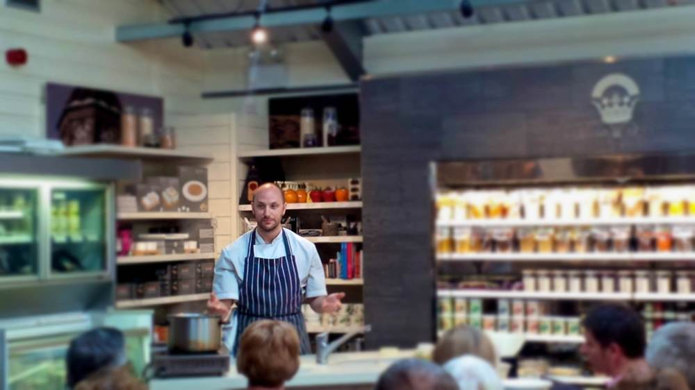 Craig's venison demo at Hopetoun last year