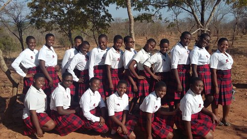 Pupils of the Edinburgh Girls' High School in Malawi