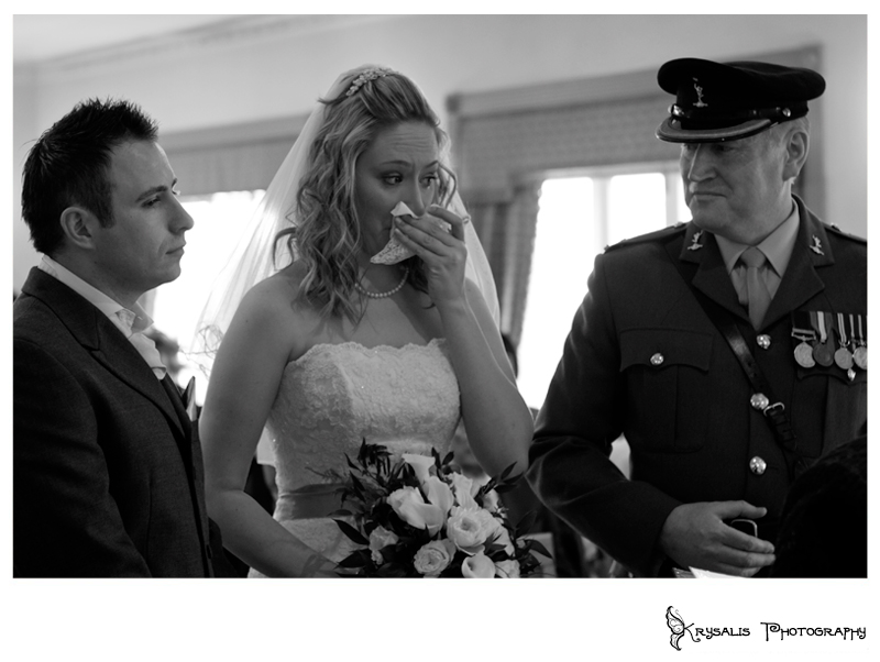 Tears at the altar in Hawkstone Park