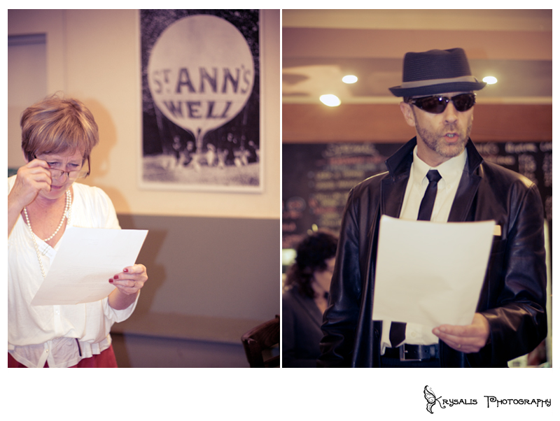 Suspects at St. Anns Weel Gardens Murder Mystery Dinner