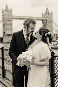 Vix & Rory near Tower Bridge in London