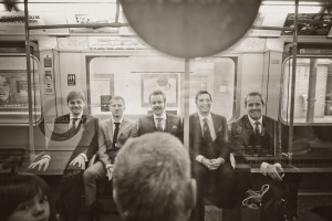 Groomsmen on the Underground
