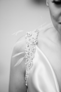 Detail shot of bride