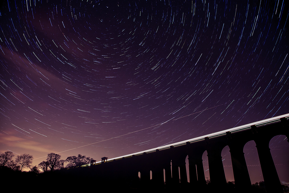 Balcombe Viaduct (50x 30 second exposures)