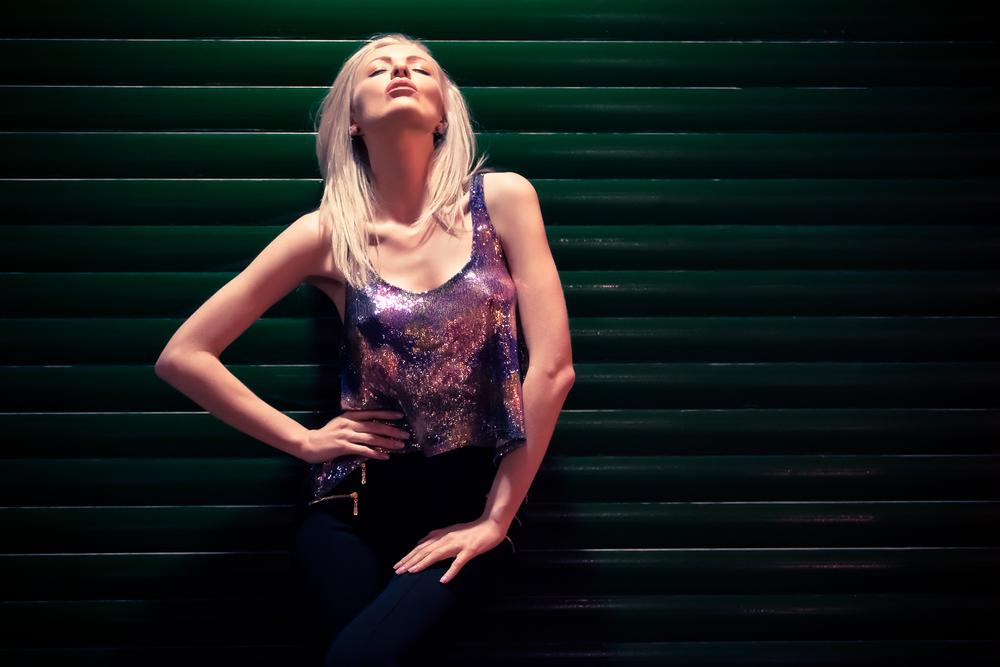 Zara Watson looking up