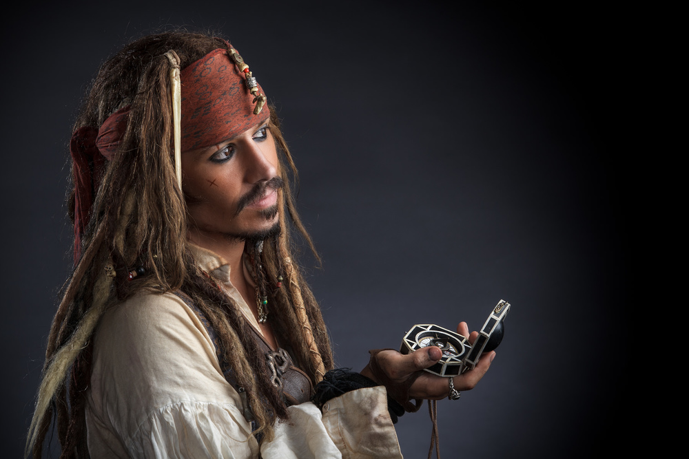 Jack Sparrow with compass