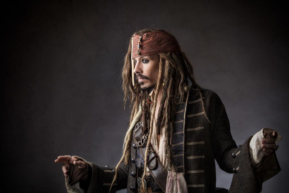 Jack Sparrow posing