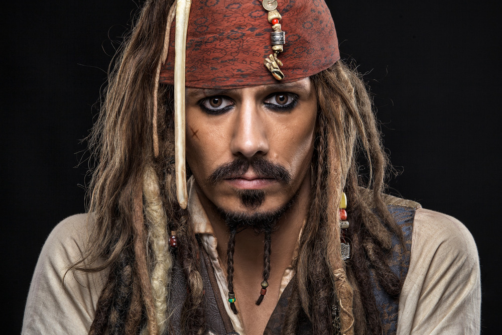 Jack Sparrow studio portrait