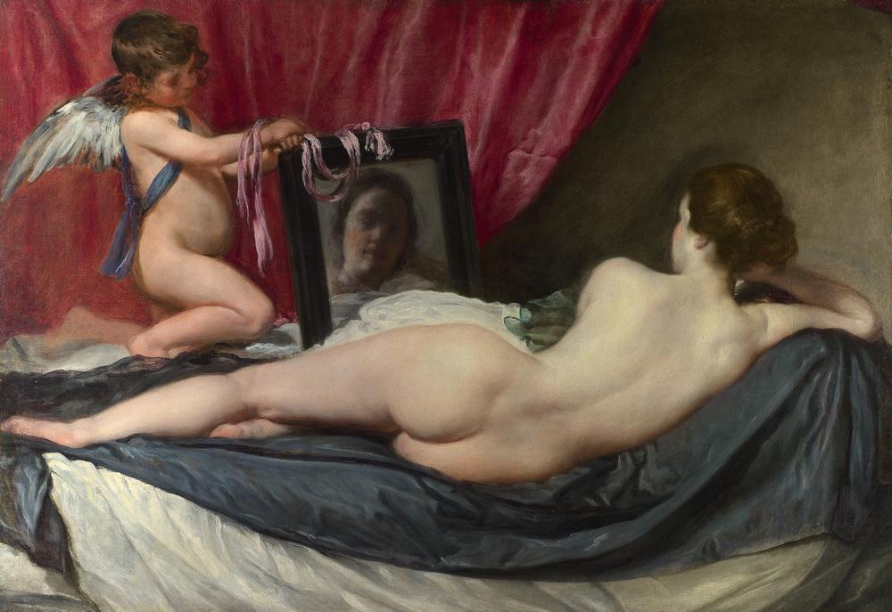 Venus mit dem Spiegel (Rokeby Venus)    (1.3 MB)  Diego Velázquez 1648–1651 Öl auf Leinwand, 122,5 x 177 cm © London, The National Gallery