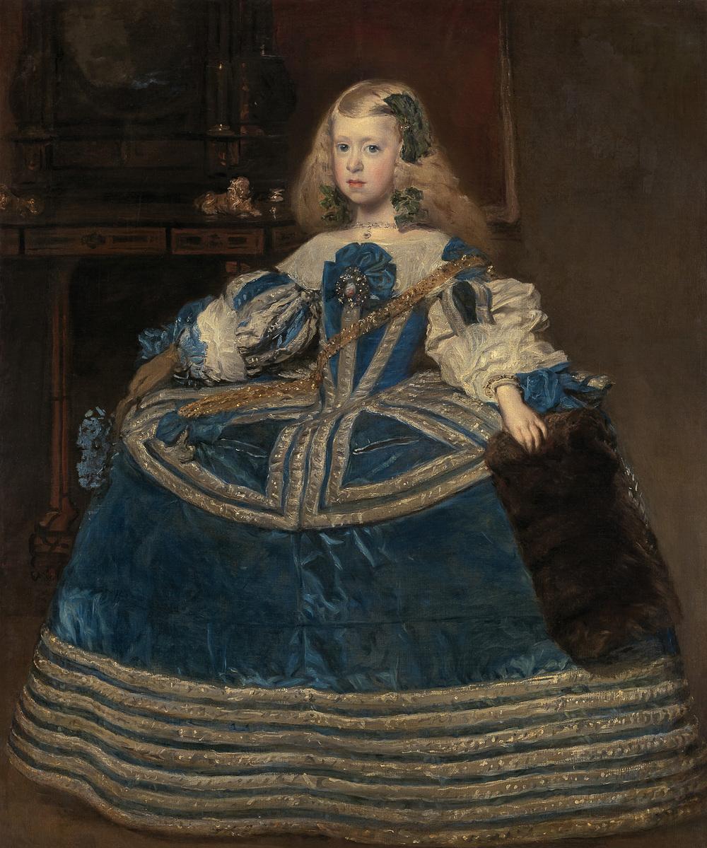 Infantin Margarita (1651–1673) in blauem Kleid    (1.2 MB)  Diego Velázquez 1659 Öl auf Leinwand, 126 cm x 106 cm © Wien, Kunsthistorisches Museum