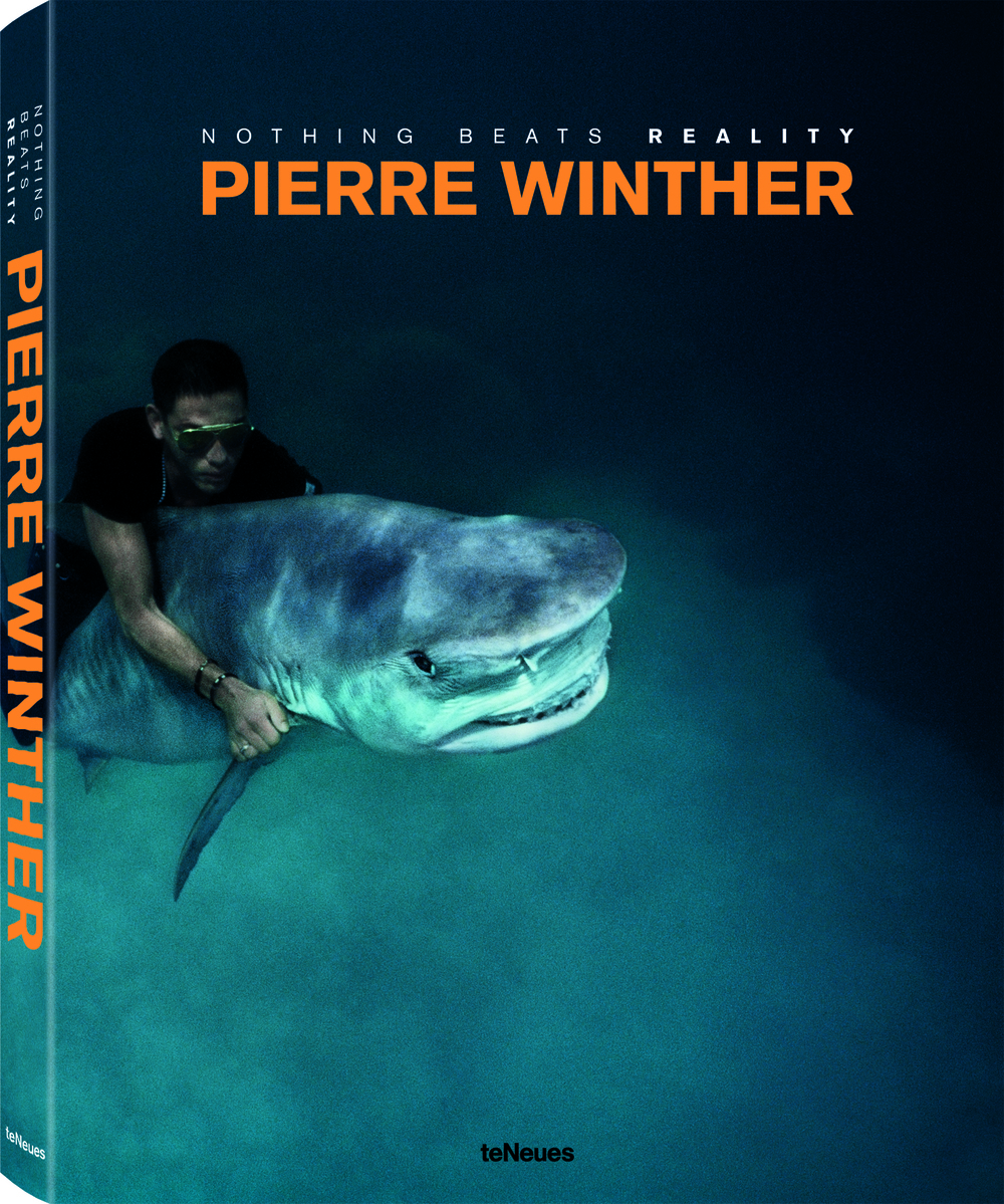 © Nothing Beats Reality by Pierre Winther, to be published by teNeues in March 2015, € 98 - www.teneues.com. The Under Water Project, Shark Riding, 1992 - Photo © 2014 by Pierre Winther. All rights reserved. www.pierrewinther.com