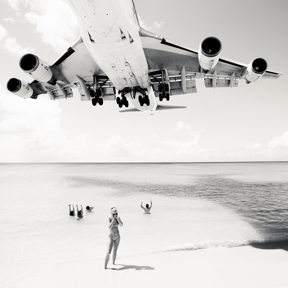 © Josef Hoflehner - Retrospective 1975-2015, to be published by teNeues in September 2015, www.teneues.com. Jet Airliner #61, St. Maarten, 2011, Photo © 2015 Josef Hoflehner. All rights reserved.