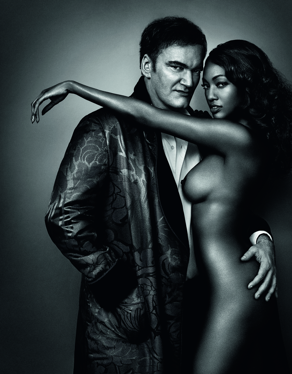 Quentin Tarantino and Nichole Galicia Photo © 2016 Marc Hom. All rights reserved.