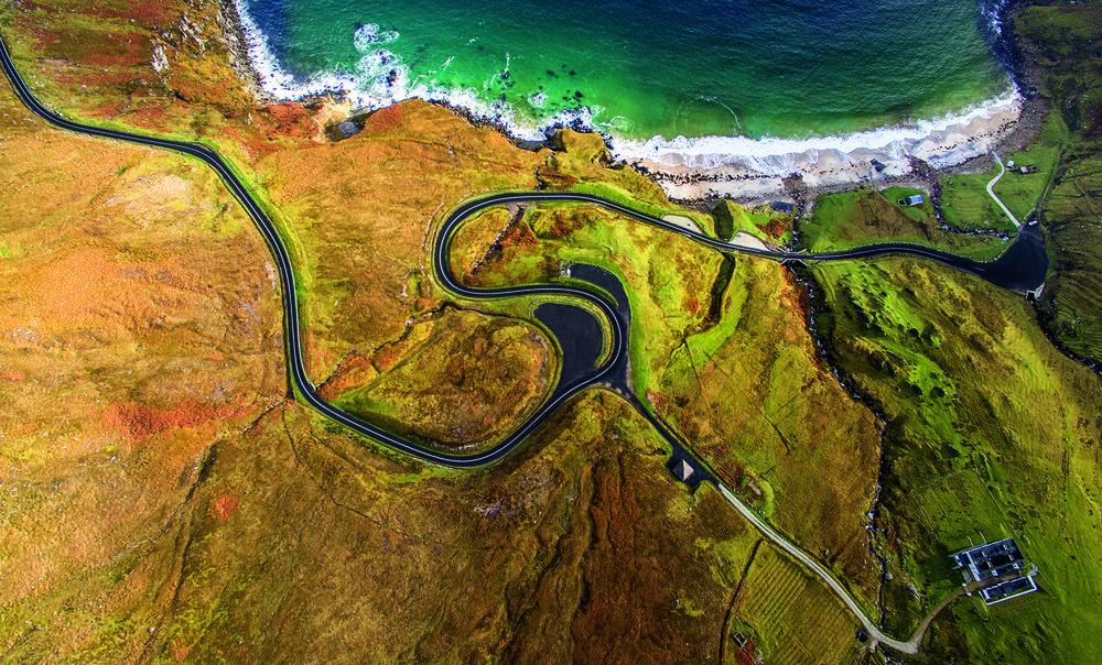 Photo © Romeo Durscher, Ort: Keem Beach, Achill Island, County Mayo, Irland, Aufgenommen mit: DJI Phantom 3, © 2016 DJI. All rights reserved.www.dji.com