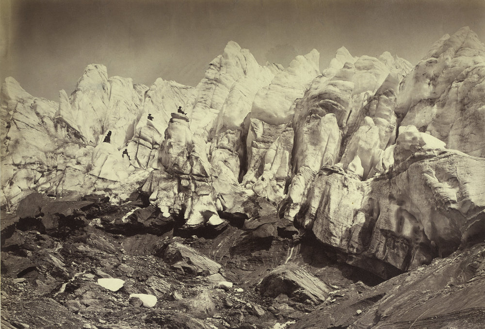 Gustav Jägermayer Der Kristallwassergletscher, 1863 © Albertina, Wien