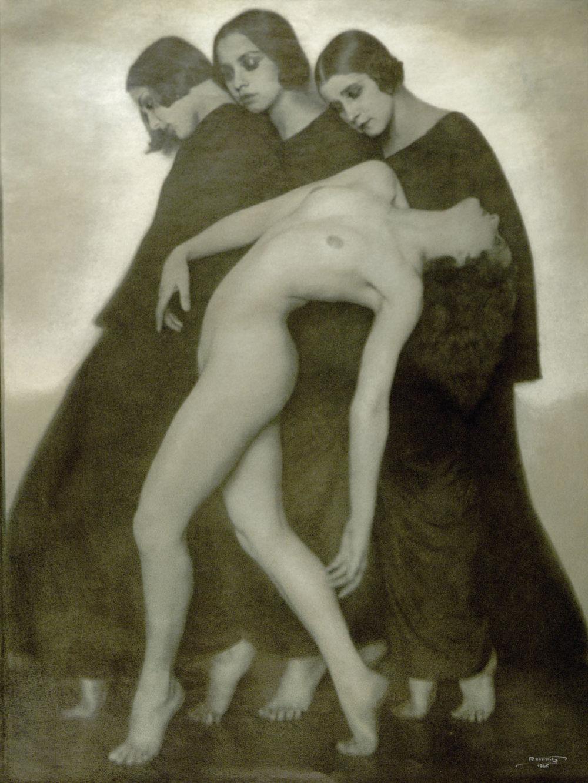 Rudolf Koppitz Bewegungsstudie, 1926,Mehrfarbiger Gummidruck,Albertina, Dauerleihgabe der Höheren Graphischen Bundes-Lehr-und Versuchsanstalt, Wien