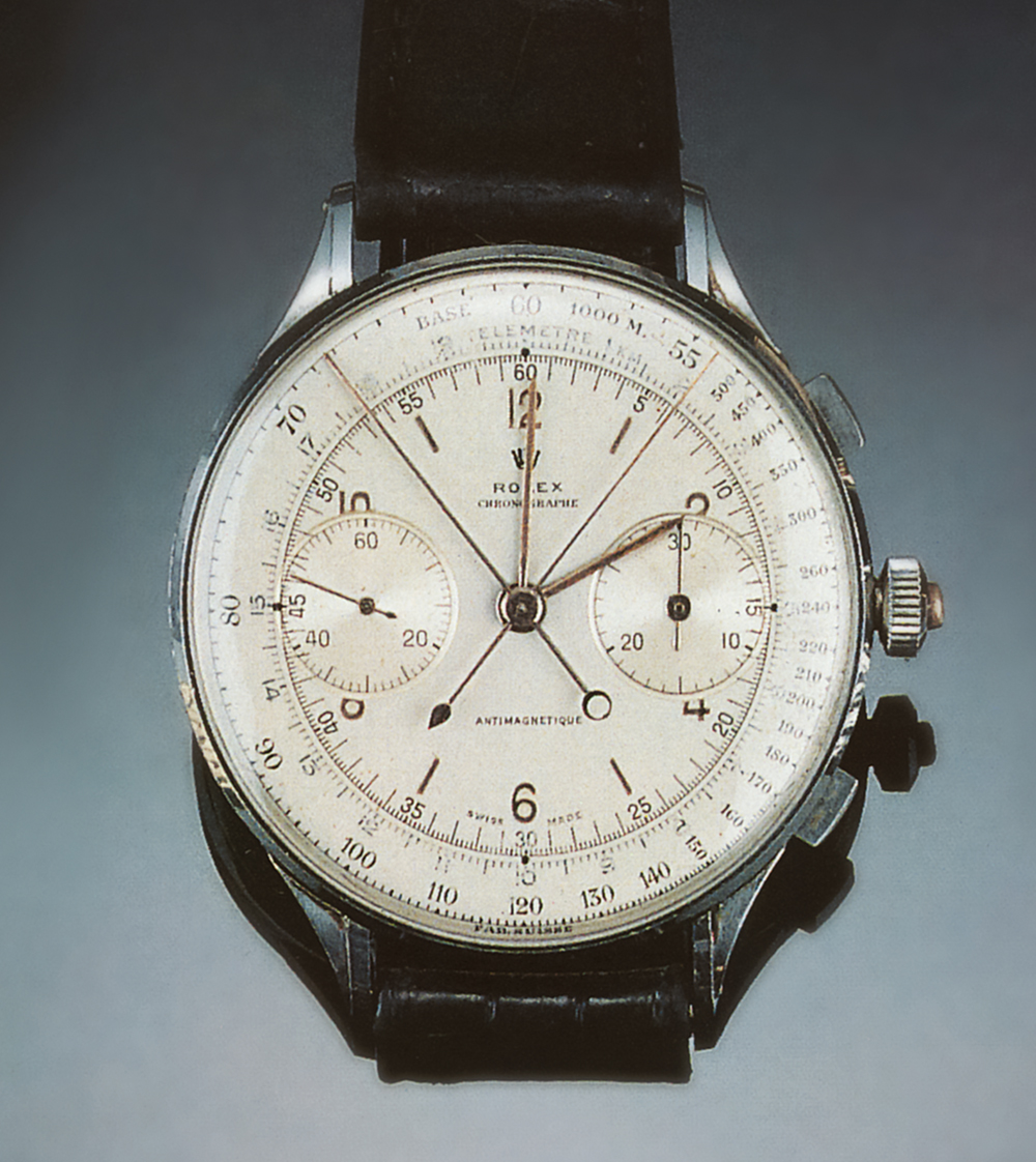Rattrapante chronograph, one of twelve watches produced, 1942  Photo © Christie's, Geneva