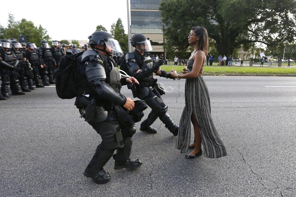 © Jonathan Bachman, Reuters  Titel: Stellung beziehen in Baton Rouge