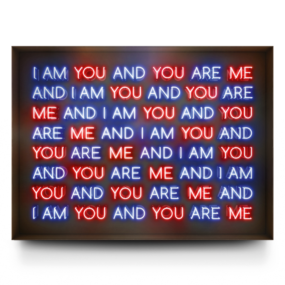 I AM YOU AND YOU ARE ME, Neon Light Installation  © 2017 David Drebin. All rights reserved.