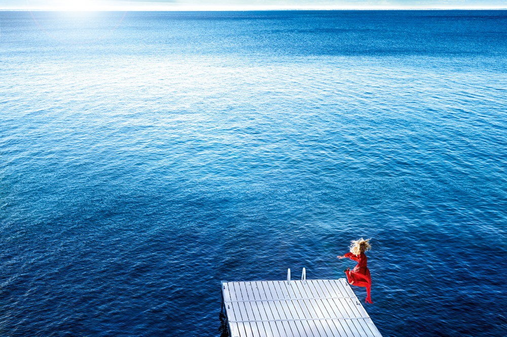 JUMPING INTO THE BLUE  Photo © 2017 David Drebin. All rights reserved.