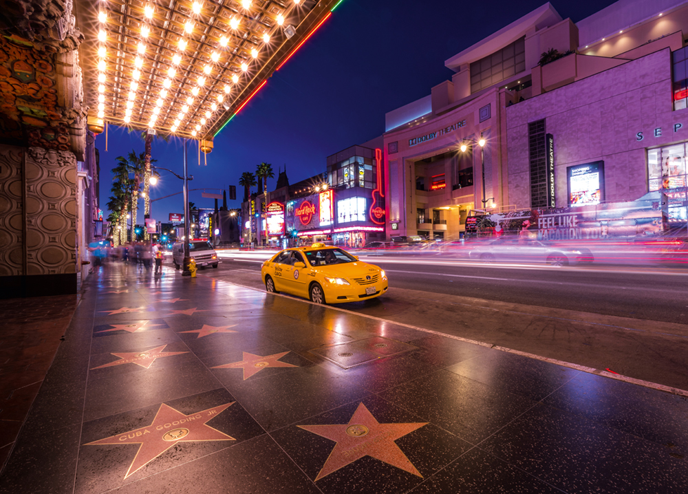 The Walk of Fame and the Dolby Theater   Photo © 2018 Serge Ramelli. All rights reserved. www.photoserge.com