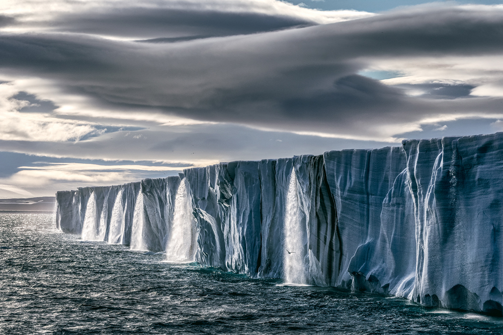 Ice Waterfall,  Svalbard, Norway Photo © 2018 Paul Nicklen. All rights reserved.  www.sealegacy.org
