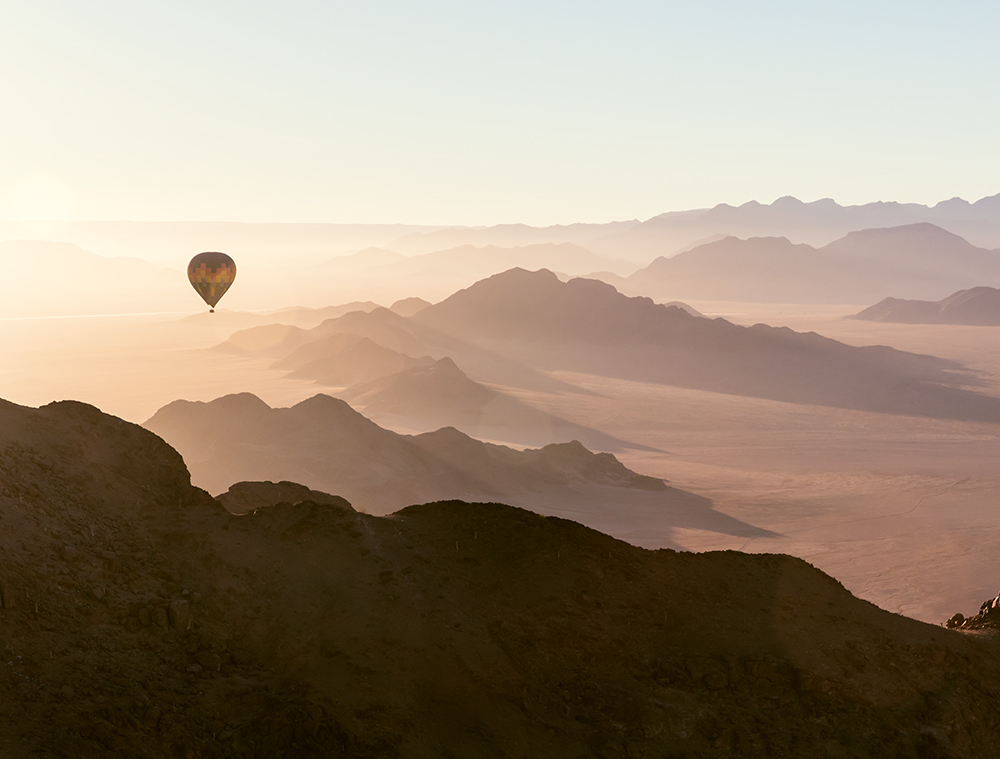 A flight in a hot-air balloon is an unforgettable experience that every visitor to Namibia should indulge in  Photo © 2018 Michael Poliza. All rights reserved.  www.michaelpoliza.com