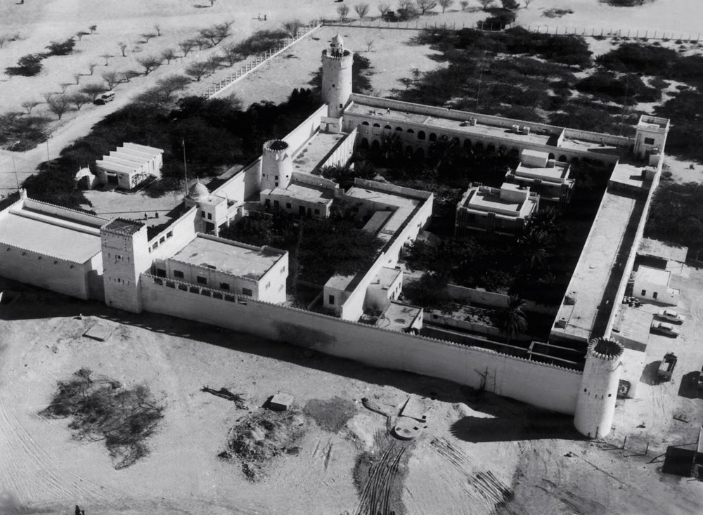 1. Aerial view of Qasr Al Hosn in the 1960s. © BP plc, Courtesy of National Archives.jpg