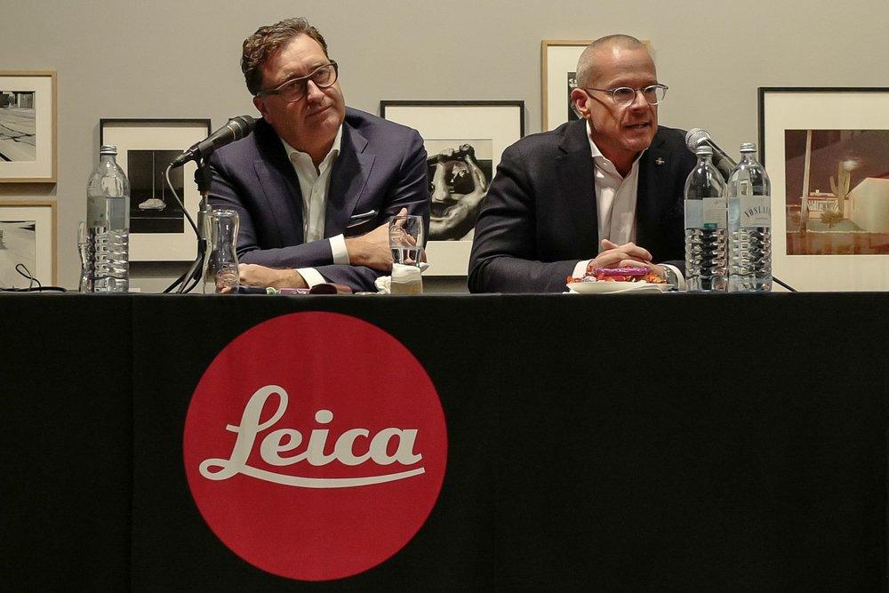 v.l. Matthias Harsch, Vorstandsvorsitzender Leica Camera AG, mit Alexander Sedlak, Managing Director der Leica Camera Austria.jpg