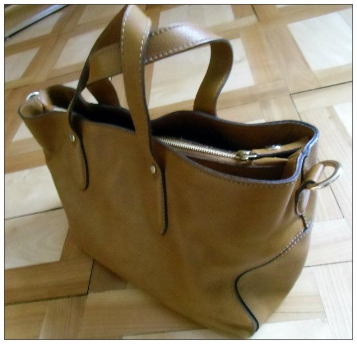meine erste beigefarbene Tasche (von Uterqüe)
