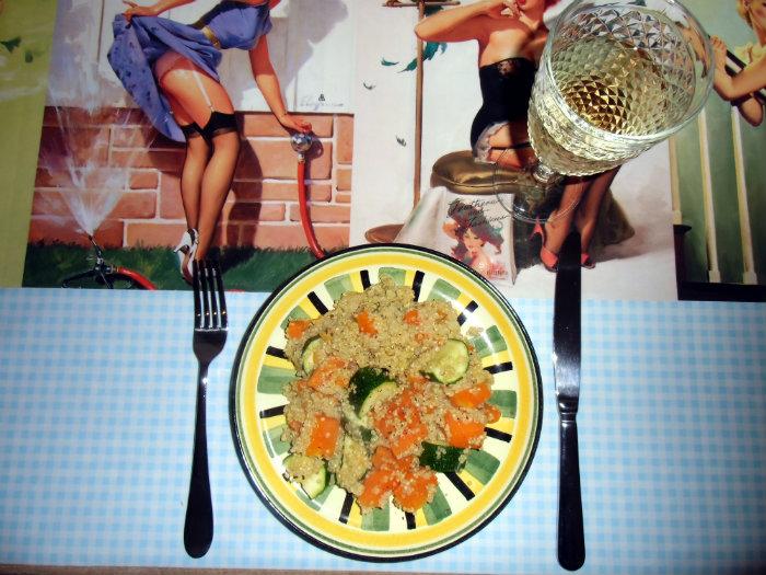 Quinoa, Kürbis und Zucchetti (gut war mein Mann nicht daheim - er ist kein Fan davon!)