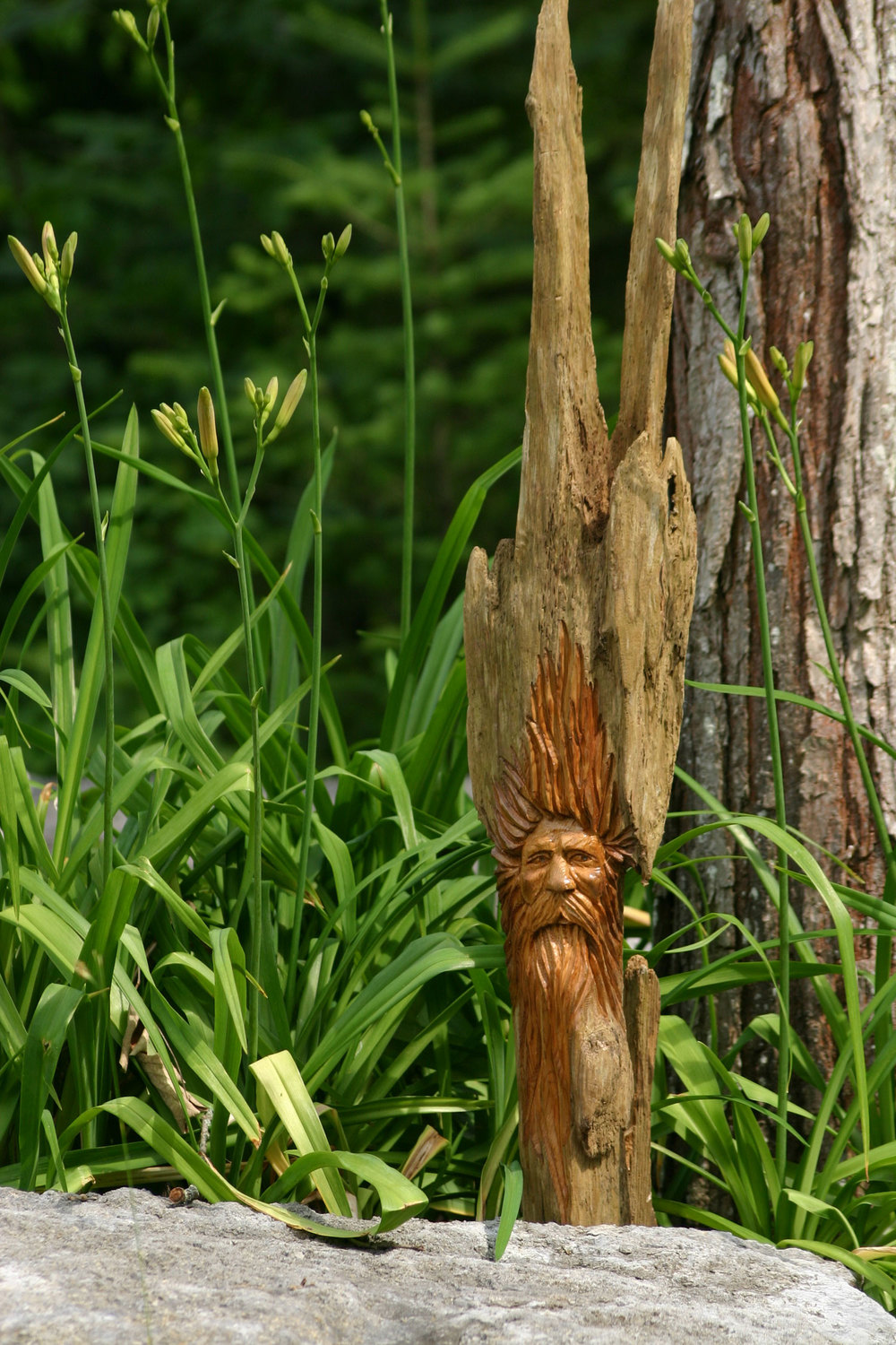 Wood Spirit Wood Carving