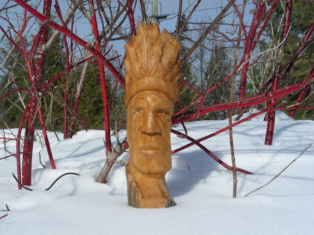 Wood Face Native Carving