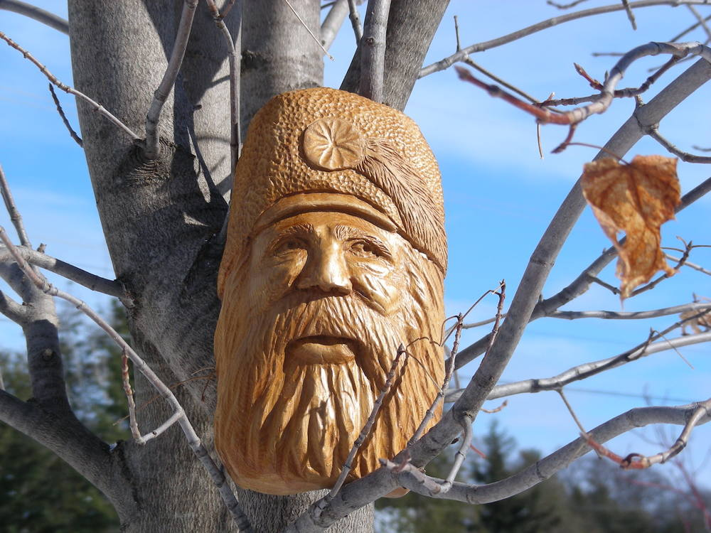 Character Face Wood Carving