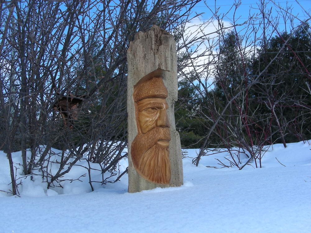 Wood Face Sculpture