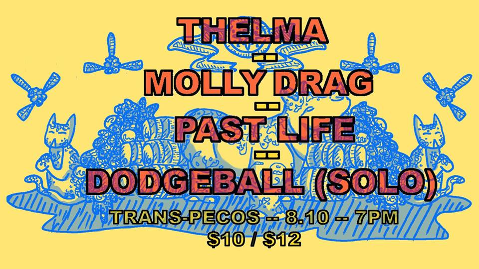 ▁ ▂ ▃ ▅ ▆ ▇ ▉ ▇ ▆ ▅ ▃ ▂ ▁  FlatBox  Presents   Thelma   Molly Drag  [Montreal]  Past Life  [Philly]  DODGEBALL the band  (solo)  Tickets:  https://ticketf.ly/2JTvGpH  Subscribe to our events here:   http://bit.ly/2vTe5a1   ▁ ▂ ▃ ▅ ▆ ▇ ▉ ▇ ▆ ▅ ▃ ▂ ▁