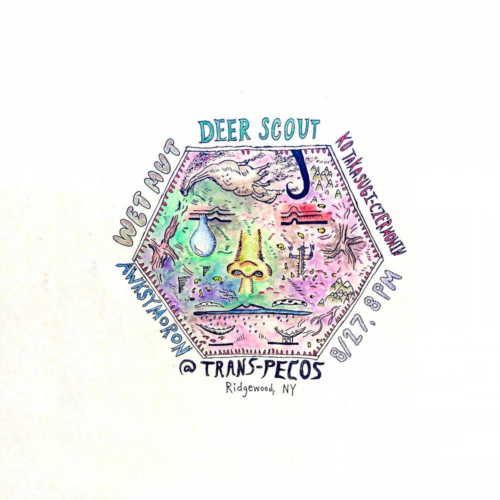 Wet Mut   https://wetmut.bandcamp.com/    deer scout   deerscout.bandcamp.com/    awksymoron   https://awksymoron.bandcamp.com/   Ko Takasugi-Czernowin  https://soundcloud.com/kotakasugiczernowin