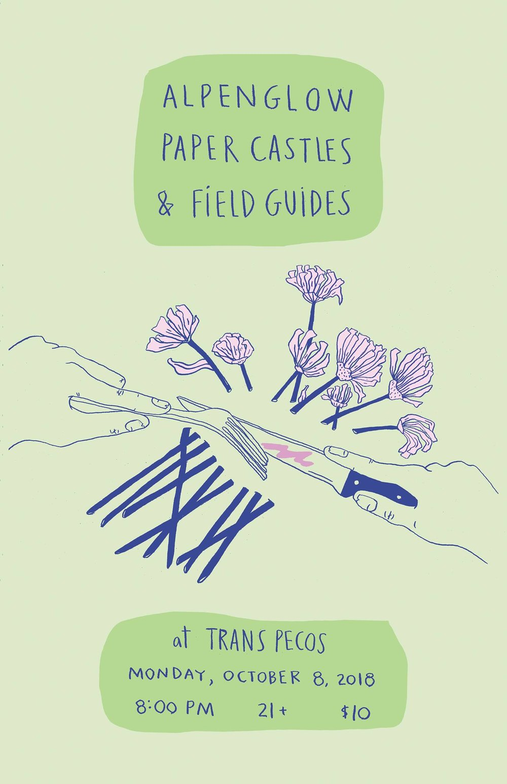 Alpenglow   Paper Castles   Field Guides  at  Trans-Pecos  $10 | 8PM