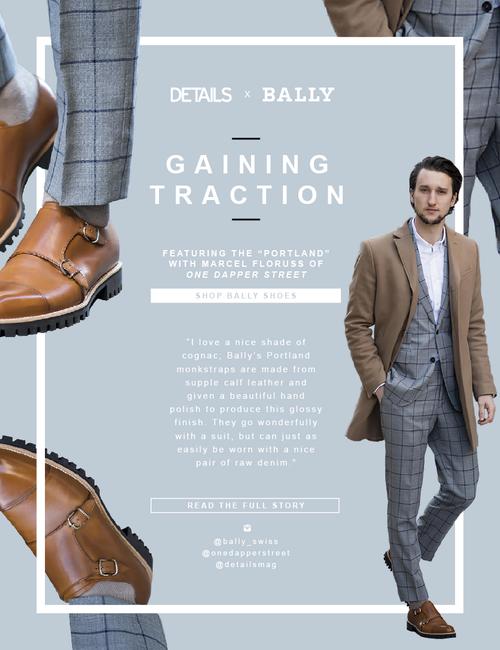 Newsletter design for BALLY. Designed at DETAILS Magazine, Condé Nast ; 2015.