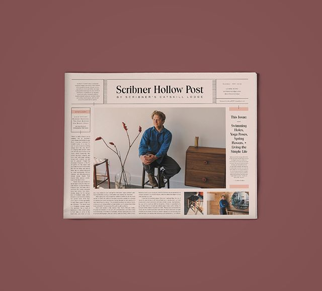 Design + art direction for Scribner Hollow Post 🗞 Lots of juicy content in there—pick one up at @scribnerslodge!!! @staybest