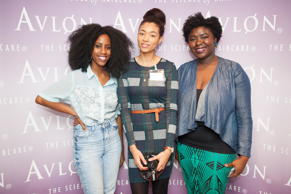 Some of the UK's top hair bloggers came out to support the event.