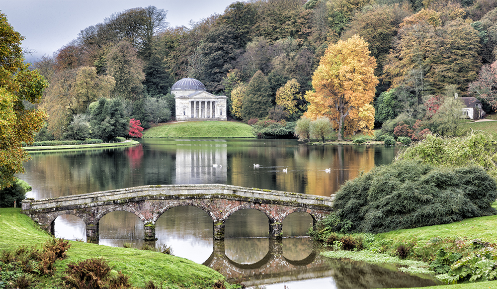 Stourhead Lake in Autumn