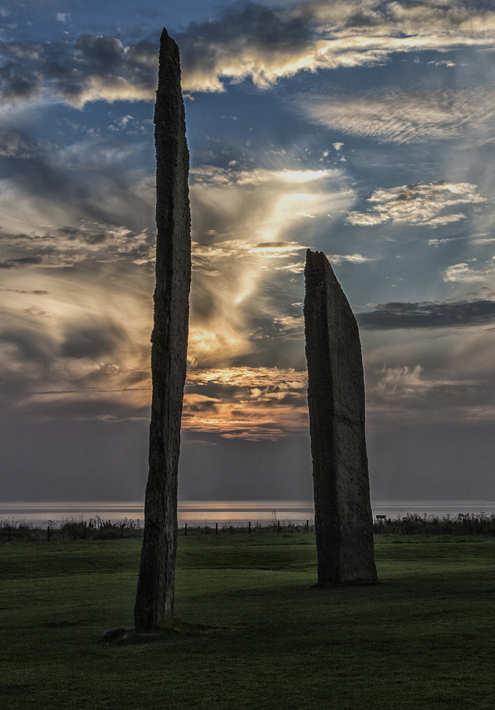 Sunset at The Stones of Stenness