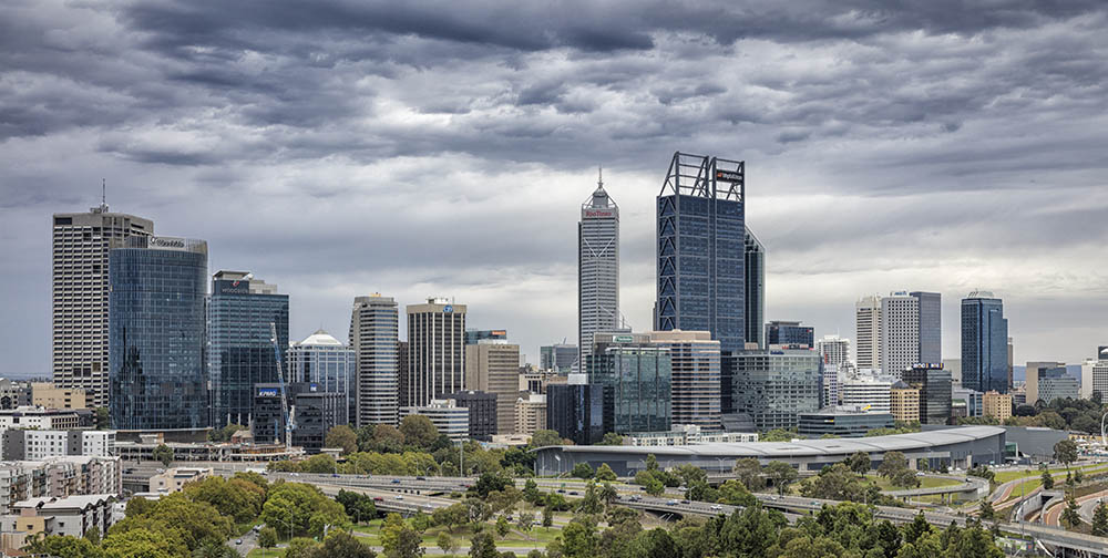 Perth City Skyline Perth WA
