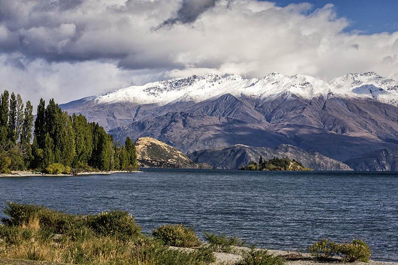 Early Snowfall Lake Wanaka S.I NZ